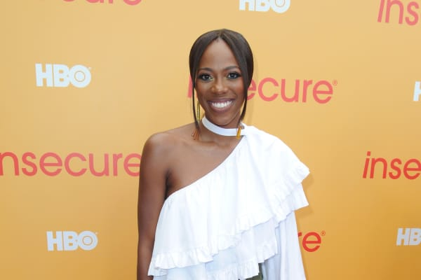 Actress Yvonne Orji attends HBO's Insecure Block Party at Banc of California Stadium on July 21, 2018 in Los Angeles, California.