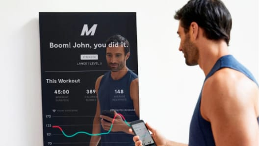 Mirror provides highly varied workouts in cardio, yoga and strength training