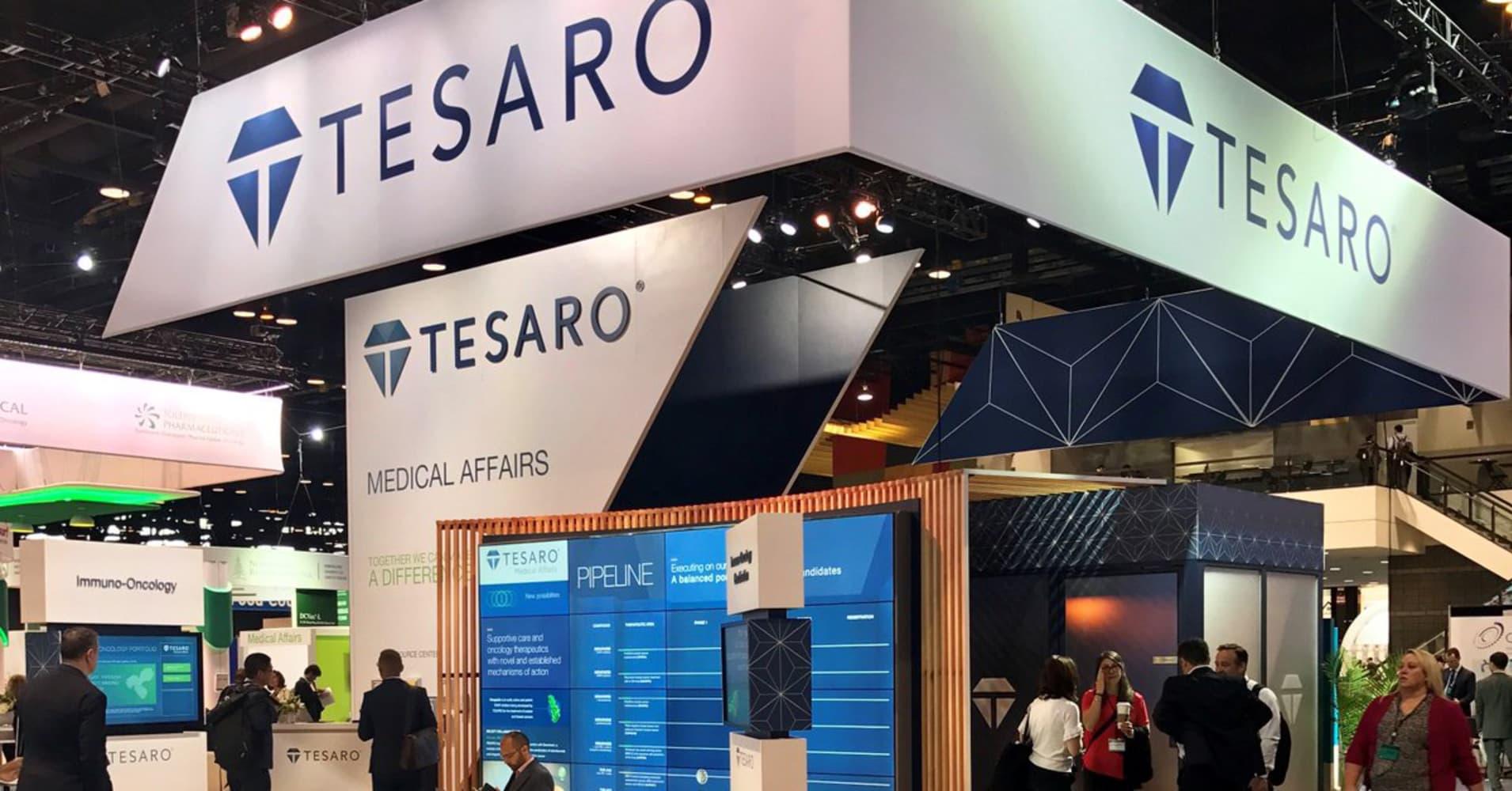 Cancer drug company Tesaro shares rise 39% following report that it will explore sale