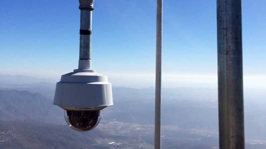 View of a high-definition wildfire watch camera in San Diego County.