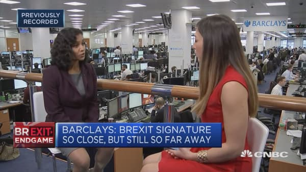Barclays base case doesn't see UK entering a recession
