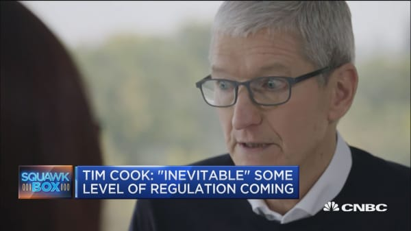 Tim Cook: Some form of regulation is 'inevitable'