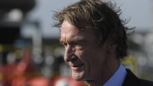 Jim Ratcliffe visits the Ineos oil refinery in Grangemouth, Scotland.