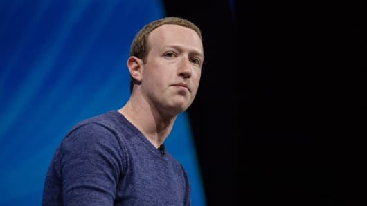 Mark Zuckerberg, President and CEO and Founder of Facebook Inc., listens at the Viva Technology conference in Paris, France on Thursday, May 24, 2018.