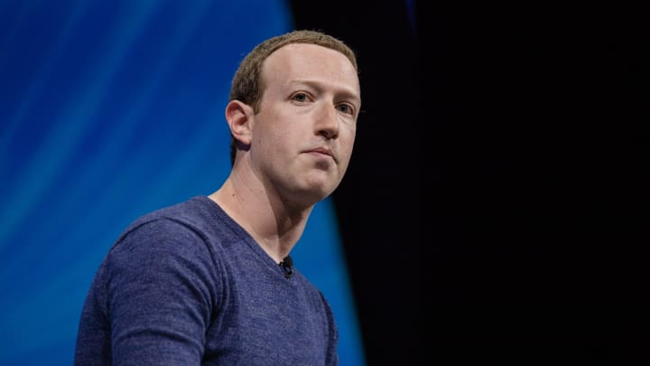 Mark Zuckerberg, chief executive officer and founder of Facebook Inc., listens during the Viva Technology conference in Paris, France, on Thursday, May 24, 2018.