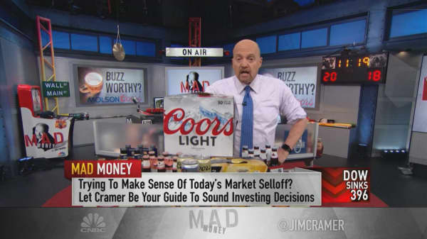 Cramer: The bear thesis holds in beer stock Molson Coors, but you can buy it for speculation