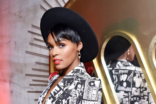 Janelle Monae attends the Warner Music Group Pre-Grammy Party in association with V Magazine on January 25, 2018 in New York City.