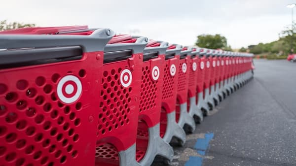 Target shares down sharply after quarterly report
