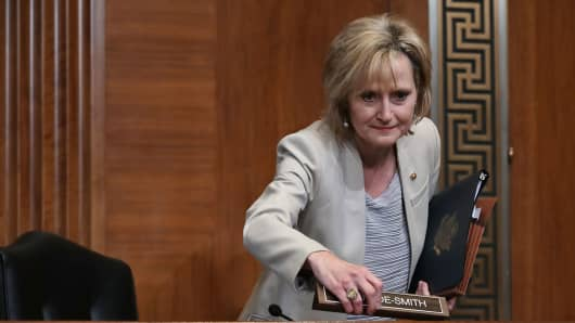 WASHINGTON, DC - MAY 10:  Sen. Cindy Hyde-Smith (R-MS)
