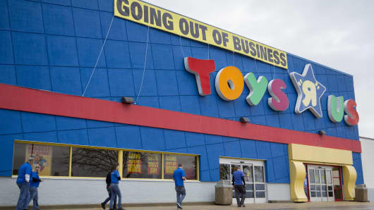 A Toys R Us Inc. retail store in Frederick, Maryland, U.S., on Monday, April 16, 2018.