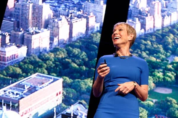 Barbara Corcoran speaks on stage at NAPW 2014 Conference