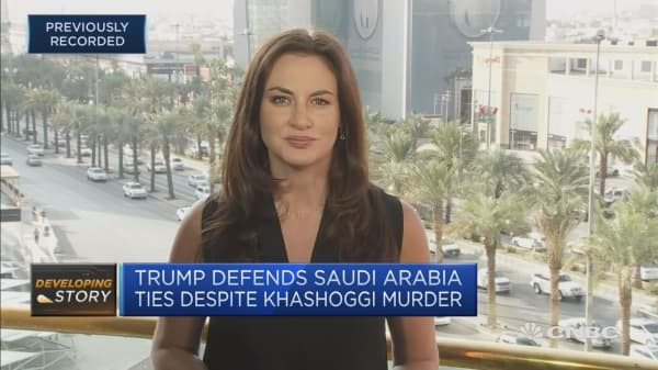 Trump defends Saudi Arabia ties despite Khashoggi's death