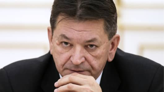 Chief of the Russian Interior Ministry's National Central Bureau of INTERPOL, Major General Alexander Prokopchuk, at an international open forum of the Russian General Prosecutor's Office.
