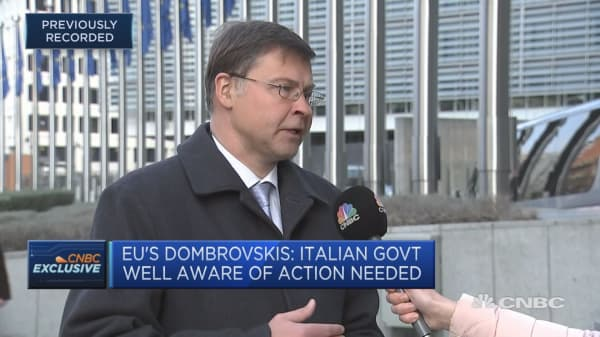 Italy is clearly and openly going against EU fiscal rules, says EC vice president