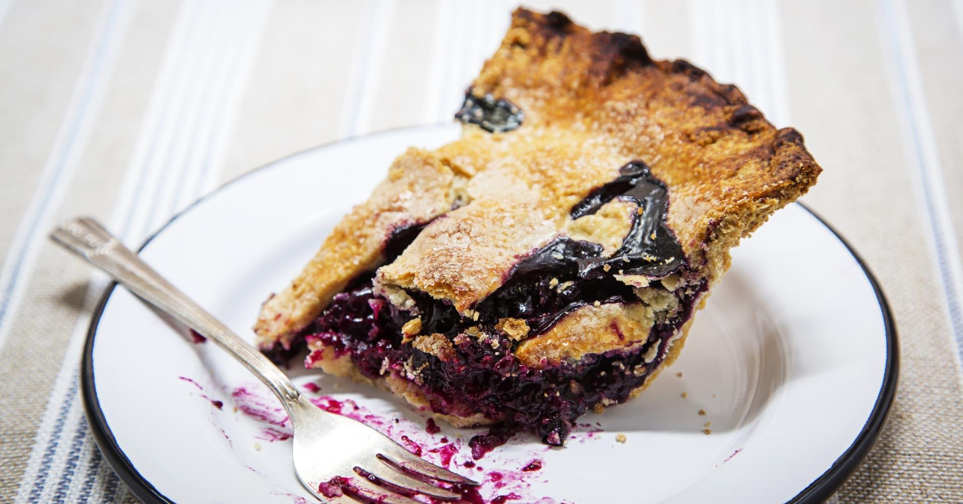 WASHINGTON, DC-July 8: Dorie Greenspan's Blueberry Pie. (Photo