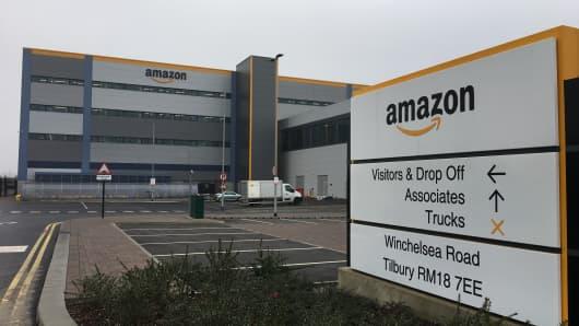 Amazon fulfillment center at Tilbury in the U.K