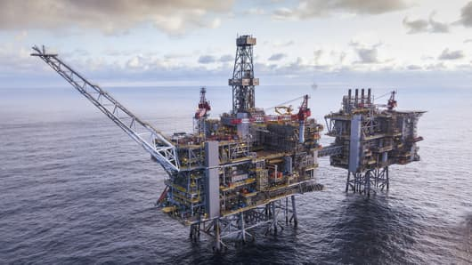 The Clair Ridge platform sited off the coast of Scotland in the North Sea.