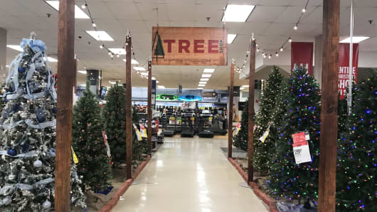 The Tree Shop at a Sears store in White Plains, New York, during Black Friday, November 23, 2018.