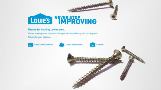 lowe's website 'down for maintenance' on black friday