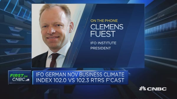 German business uncertainty is seeing its sharpest rise in a decade, says ifo president