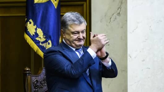 Ukraine's President Petro Poroshenko during a parliament session in Kyiv, Ukraine November 22, 2018.