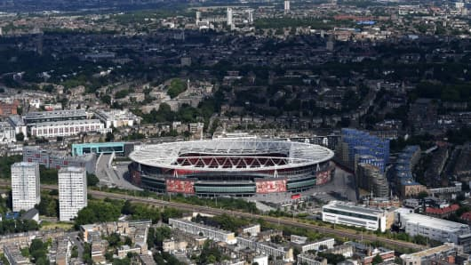 Arsenal's Emirates Stadium in north London.