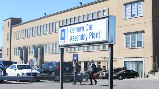 GM Oshawa Car Assembly Plant.