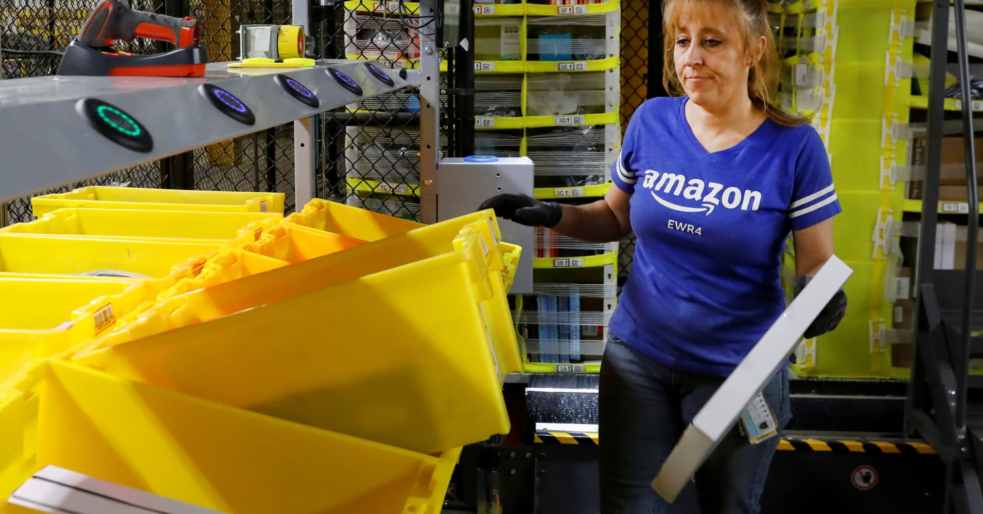 Amazon will start penalizing sellers who ship unsafe packages to its warehouses as violations mount - CNBC thumbnail