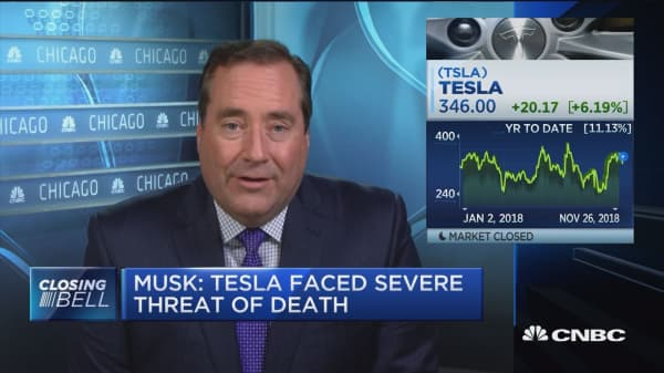 Parsing Musk's comments that Tesla was close to death