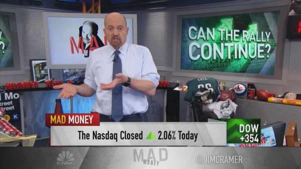 Market could rally 4% before continuing bearish moves: Cramer