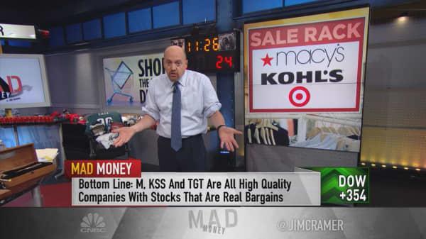 Macy's, Kohl's, Target, Amazon 'bargain' retail stocks: Cramer