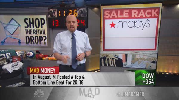 Cramer flags 'bargain' retail stocks: Macy's, Kohl's, Target, Amazon
