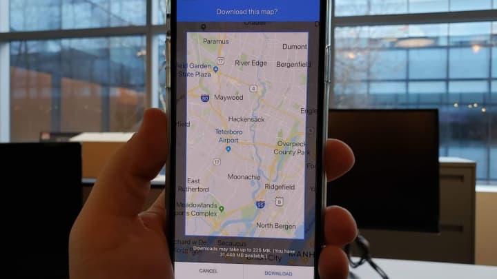 Save Google Maps offline.