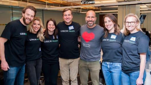 Uber's health team with Uber CEODara Khosrowshahi
