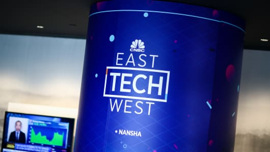 CNBC's East Tech West conference is held at LN Garden Hotel in Nansha, Guangzhou.