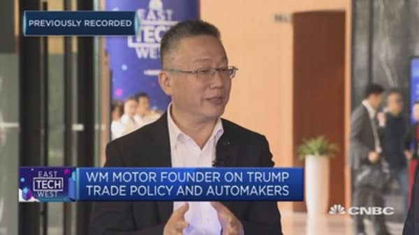 WM Motor CEO: Electric vehicles growing strong in China