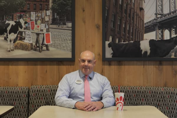Oscar Fittipaldi, a former Argentine Navy Seal, is the owner of  New York's first full-service Chick-fil-A