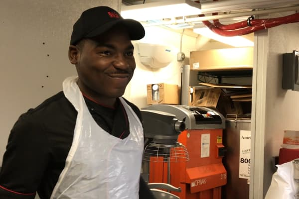 "The ""biscuit master"" JaQuill, is one of this restaurants 125 employees"
