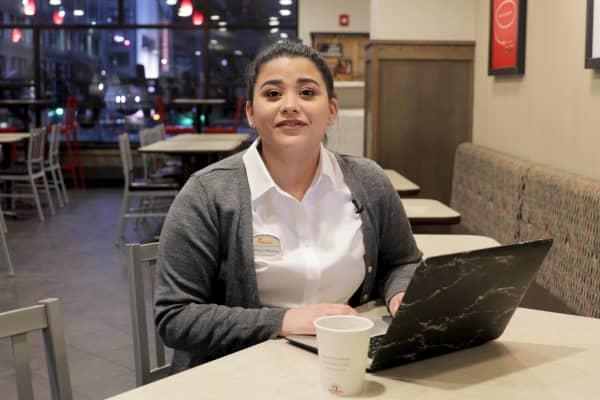 Assistant director Monique Mendoza, 22, has worked at Chick-fil-A for seven years