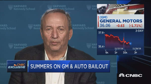 If GM ostriches and doesn't contain its costs, it won't do America any good, says former Treasury Secretary Summers