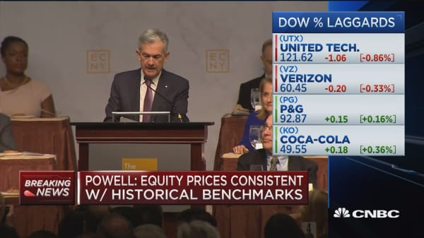 Fed's Powell says he does not see dangerous excesses in stock market