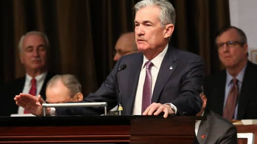 Jerome Powell, Chairman of the Federal Reserve, speaking at the New York Economic Club on Nov. 28th, 2018.
