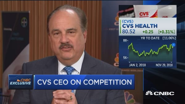 Amazon has been a formidable competitor in the health care space, says CVS CEO Larry Merlo