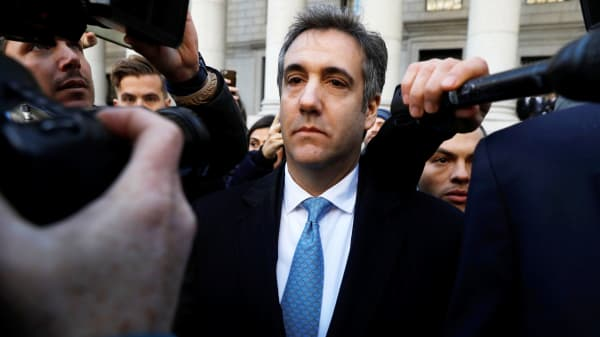 President Donald Trump's former lawyer Michael Cohen exits Federal Court after entering a guilty plea in Manhattan, New York City, November 29, 2018