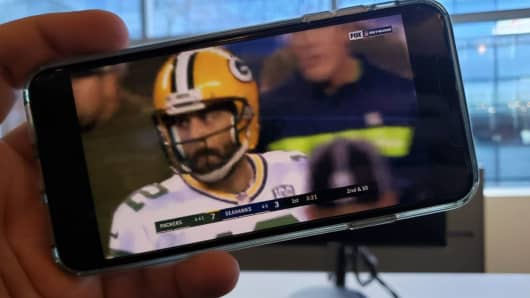I was able to stream recordings of football games even while at the office.