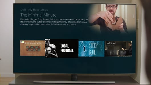 Viewing recordings on a Fire TV.