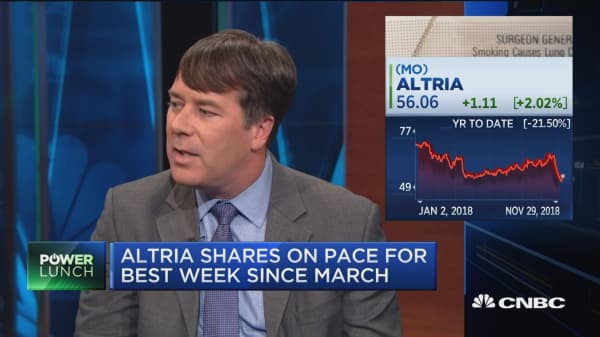 Altria rallies on report the company is looking to acquire minority stake in Juul