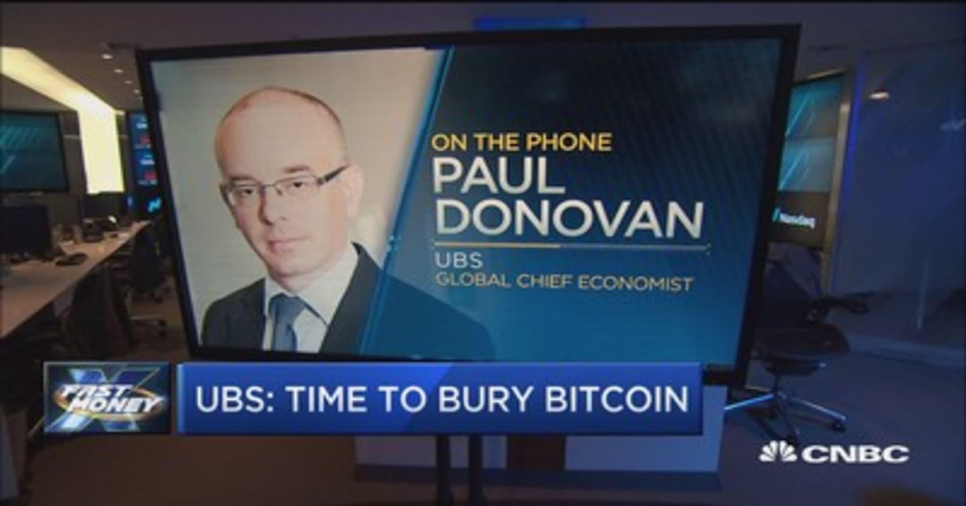 I come to bury bitcoin, says UBS' global chief economist