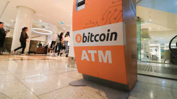 An ATM selling Bitcoin cryptocurrency.
