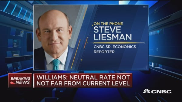 NY Fed President Williams: Neutral rate low for foreseeable future